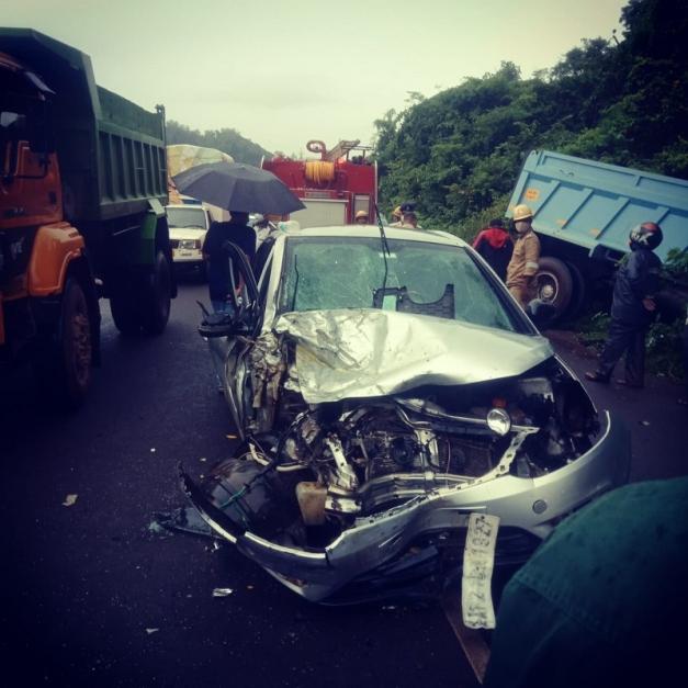बायताखोल-बोरी येथील अपघातात दोघे जखमी